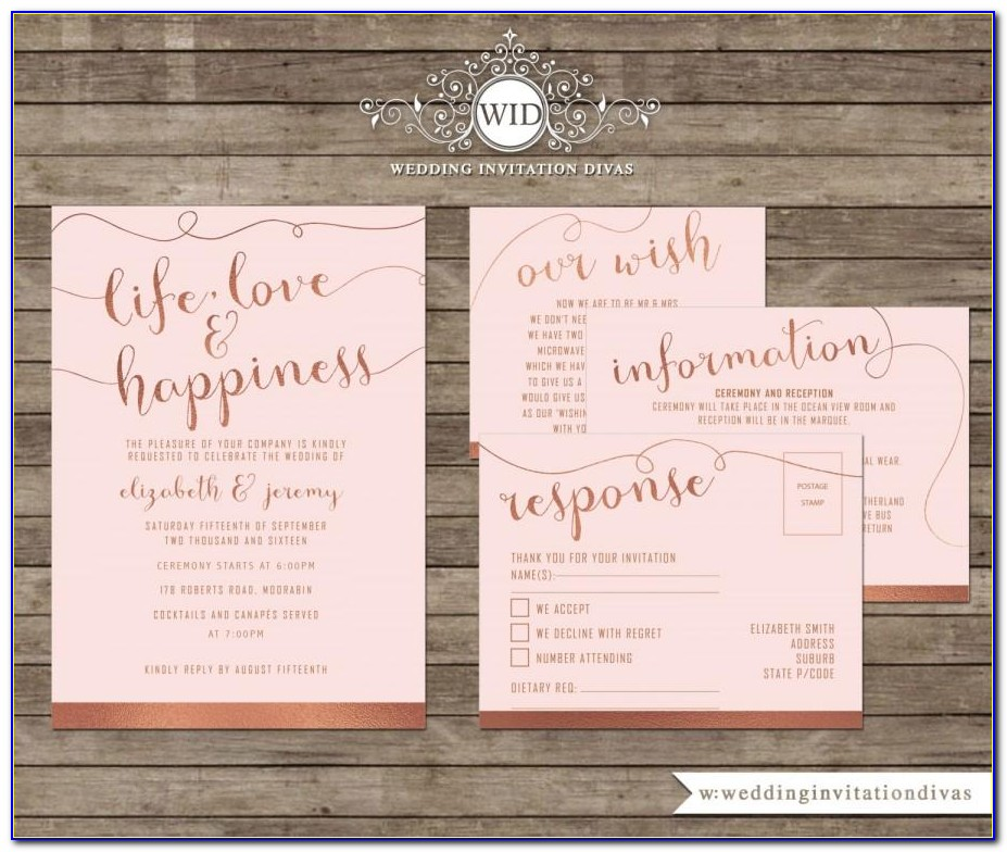 Rose Gold Party Invitation Template