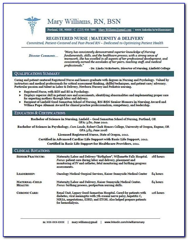 Sample Of Registered Nurse Resume