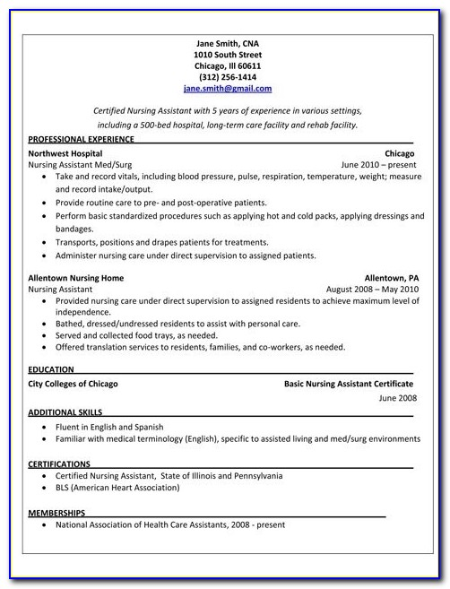 Free Sample Cover Letter For Nursing Assistant - Cover ...