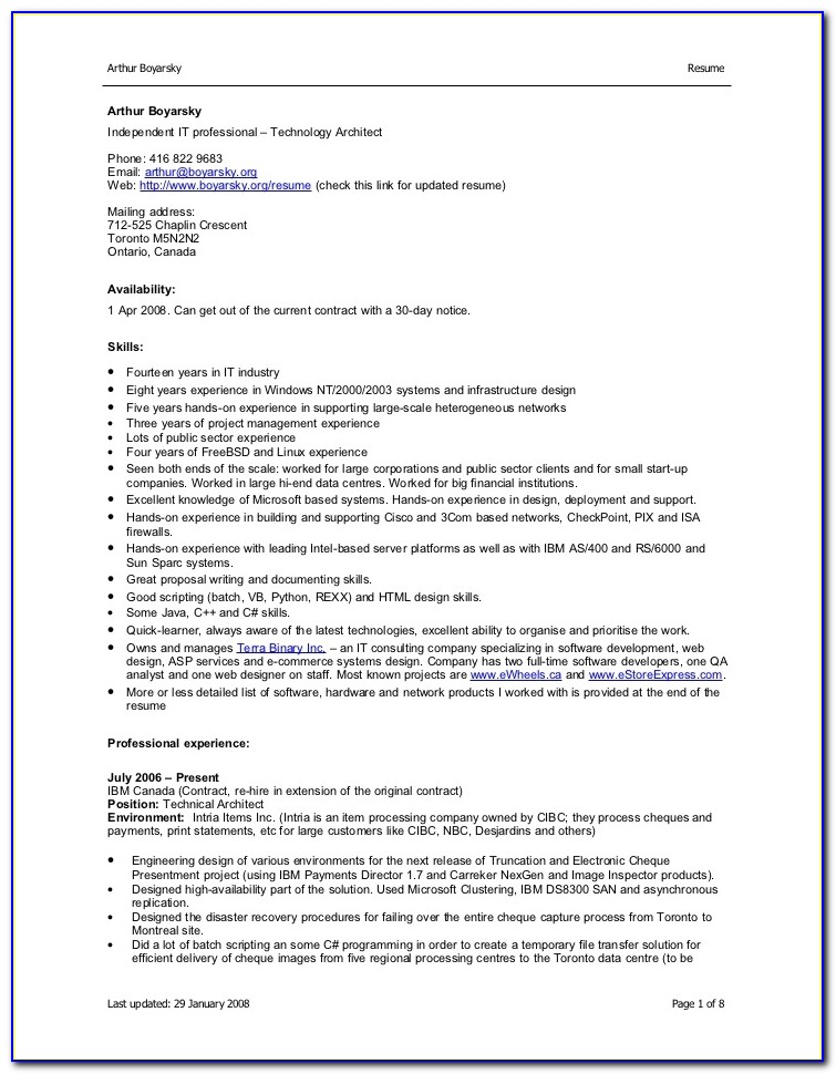 Sample Resume For Freshers In Ms Word Format Free Download