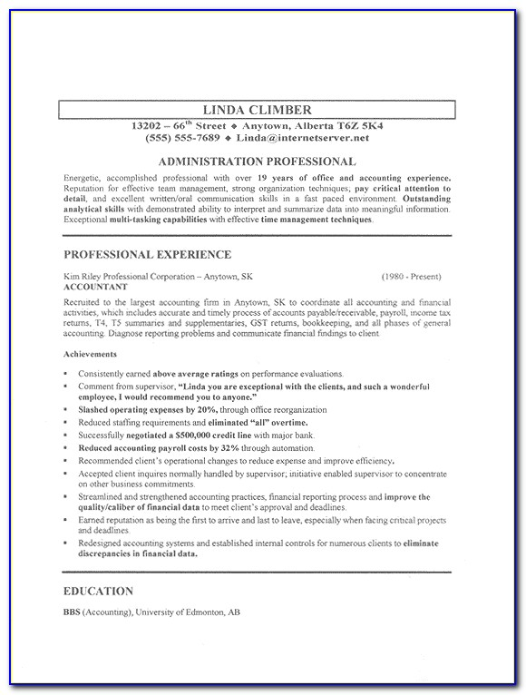 Sample Resume For Jobs In Retail