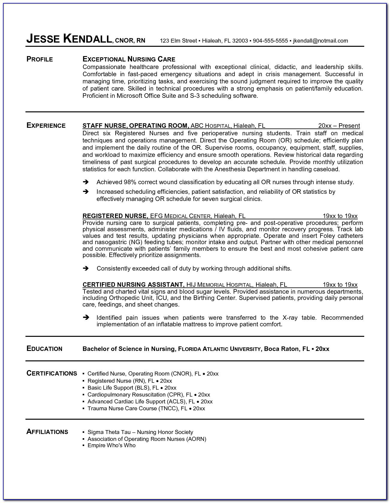 Personal Nurse Sample Resume.html For Sample Resume For Registered Nurse