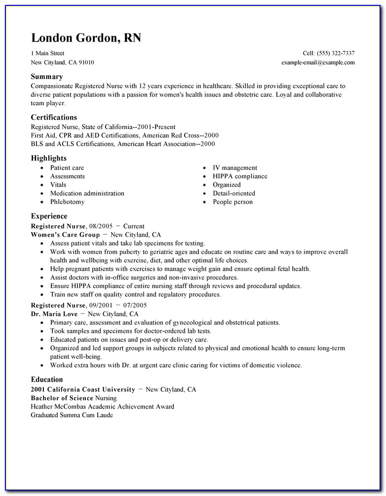 Rn Resume Samples | Resume Template 2017 In Nursing Resume Template 2017