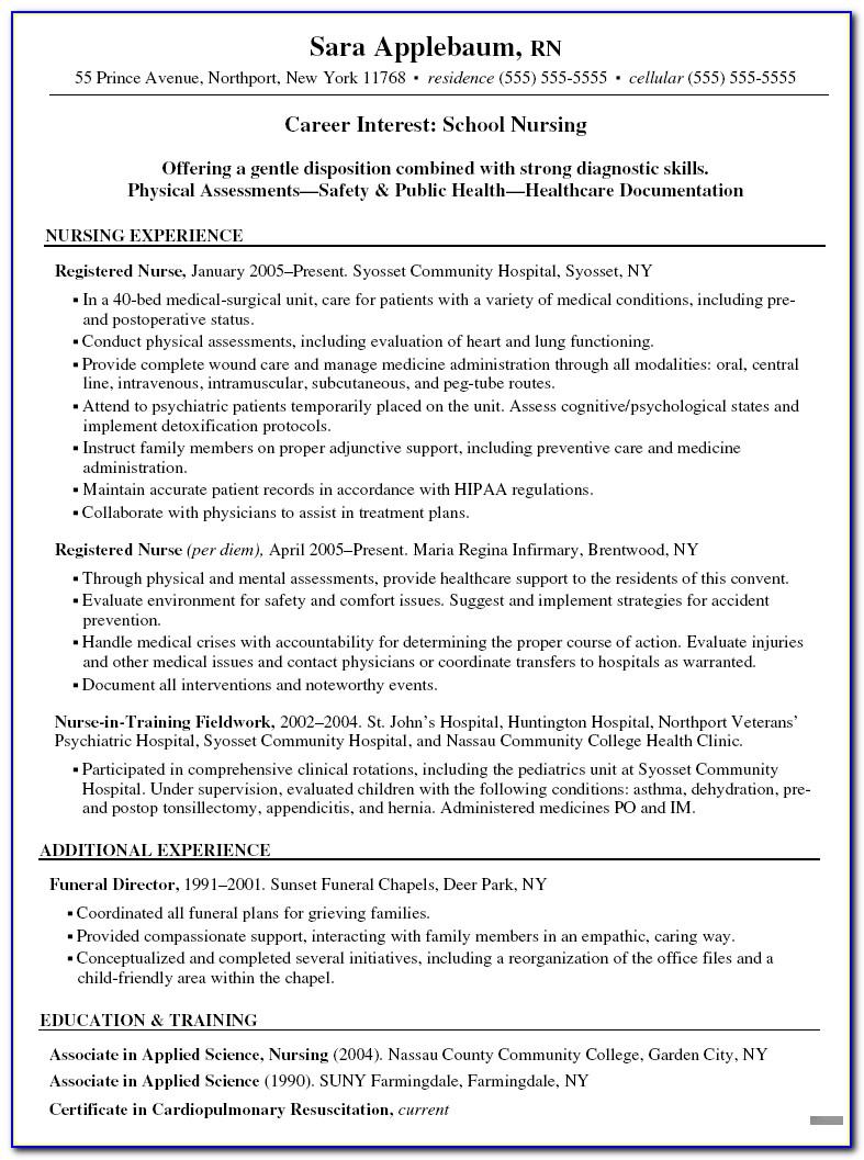 Sample Resume For Registered Nurse Case Manager