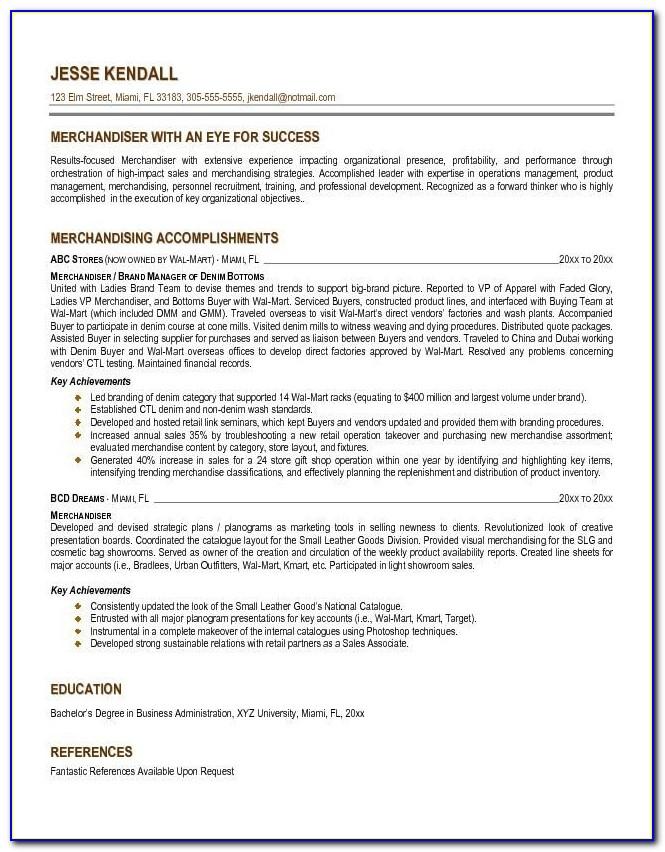 Resume For Merchandiser Internship Resume Cover Letter Mind Intended For Retail Merchandiser Resume Sample