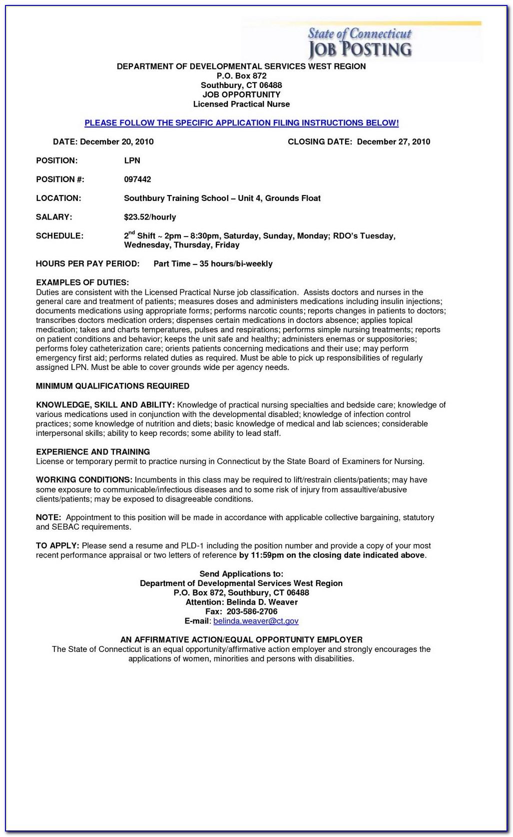 Sample Resume For Rn Position