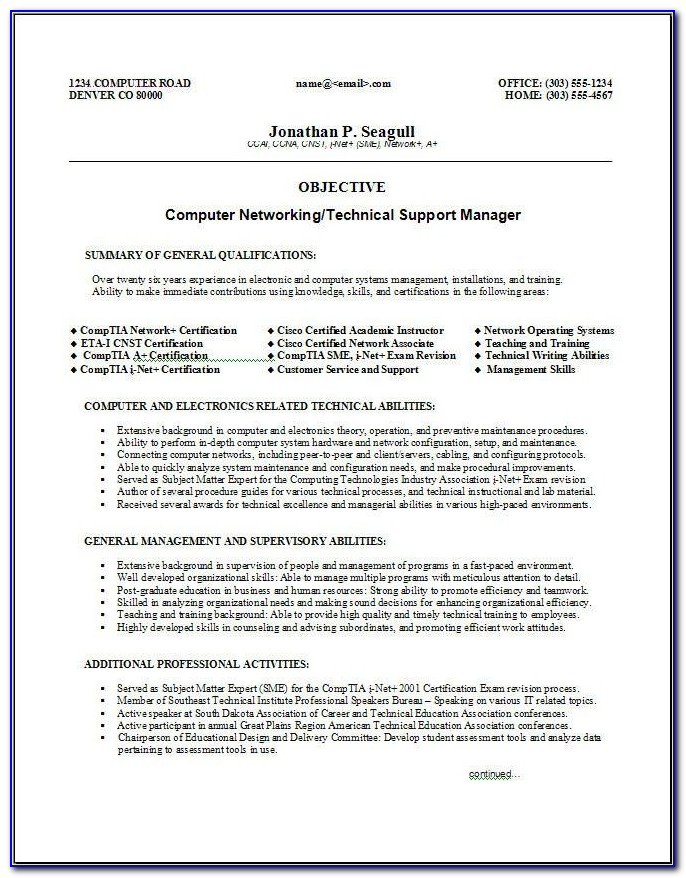 Skills Based Resume Template Microsoft Word