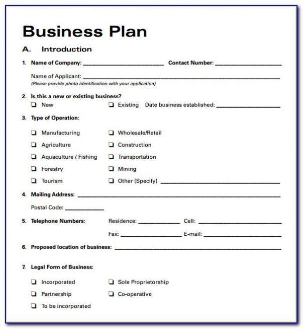 Small Startup Business Plan Example