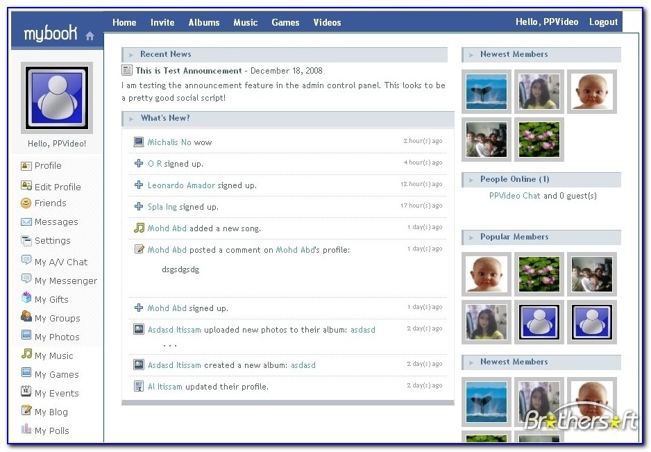 Social Networking Sites Templates Free Download In Html