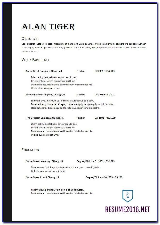 Targeted Resume Format Resume Samples   Types Of Resume Formats Intended For Resume Template Word 2017
