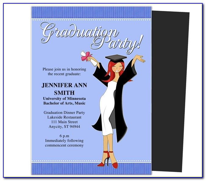 Template For Graduation Party Invitation