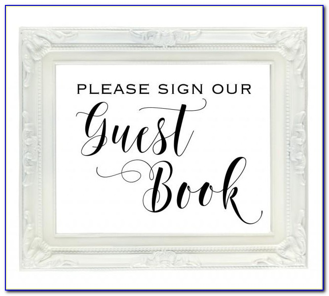 Wedding Guest Book Template Free