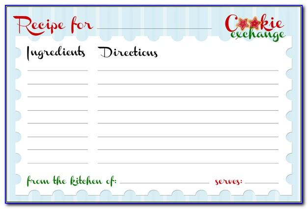 4x6 Christmas Recipe Card Template