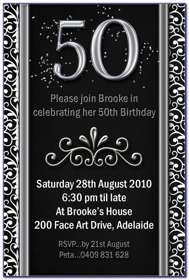 50th Birthday Invite Free