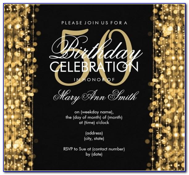 50th Birthday Invitation Templates 688