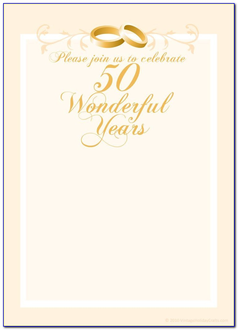 50th Wedding Anniversary Invitation Templates Free Download