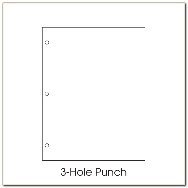 A4 2 Hole Punch Template
