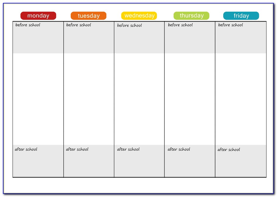Adhd Daily Planner Template
