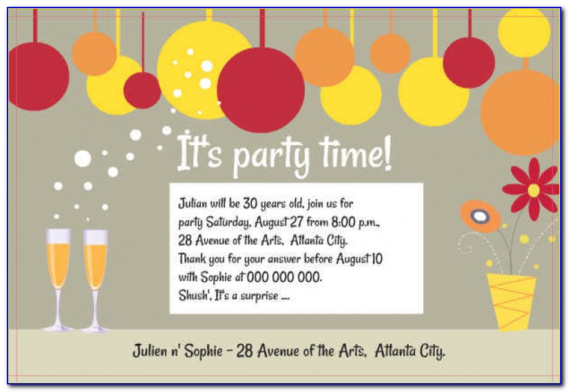 40th Birthday Ideas: Birthday Invitation Templates Adults