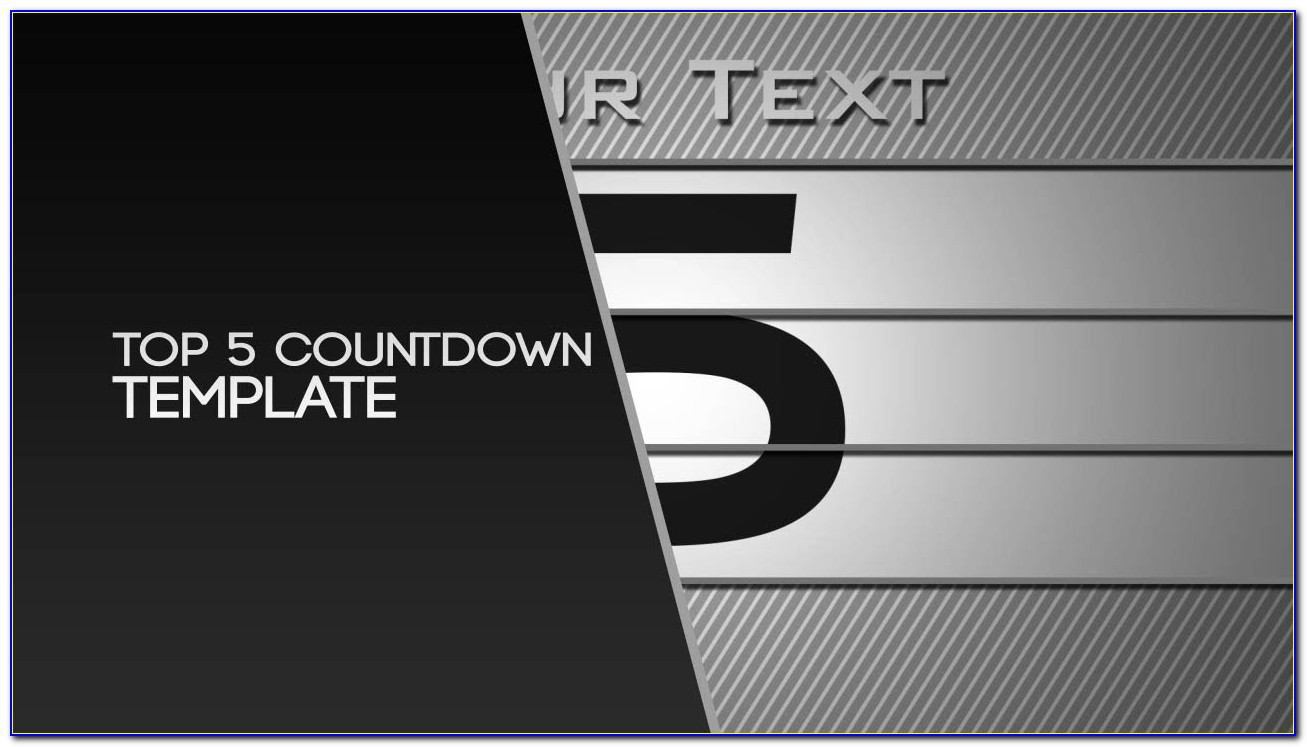 After Effects Countdown Timer Template