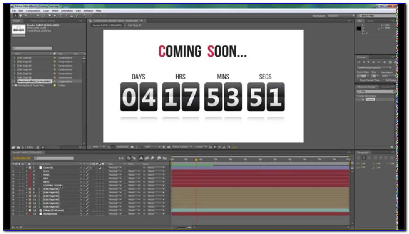 After Effects Timer Template Free Download