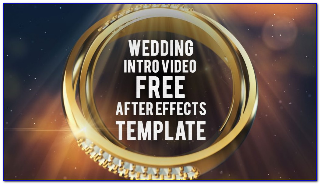After Effects Wedding Intro Templates Free Download