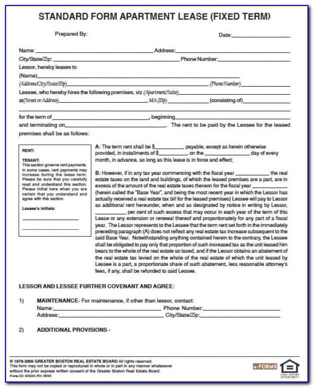 Apartment Rental Contract Template Word