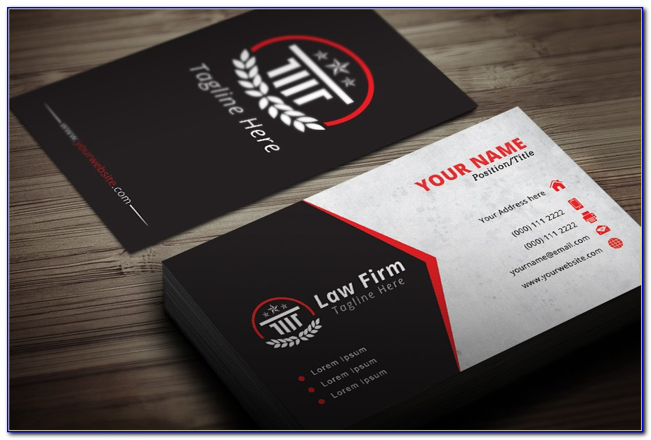 Attorney Business Cards Templates