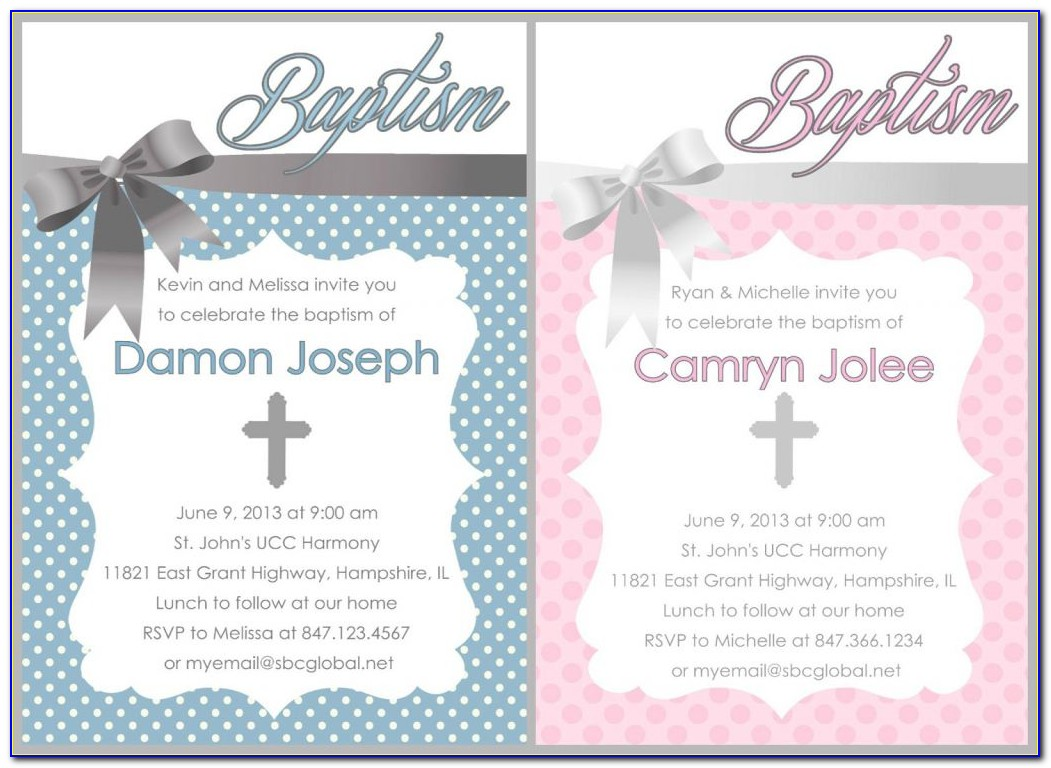 Baptism Invitation Card Template Free