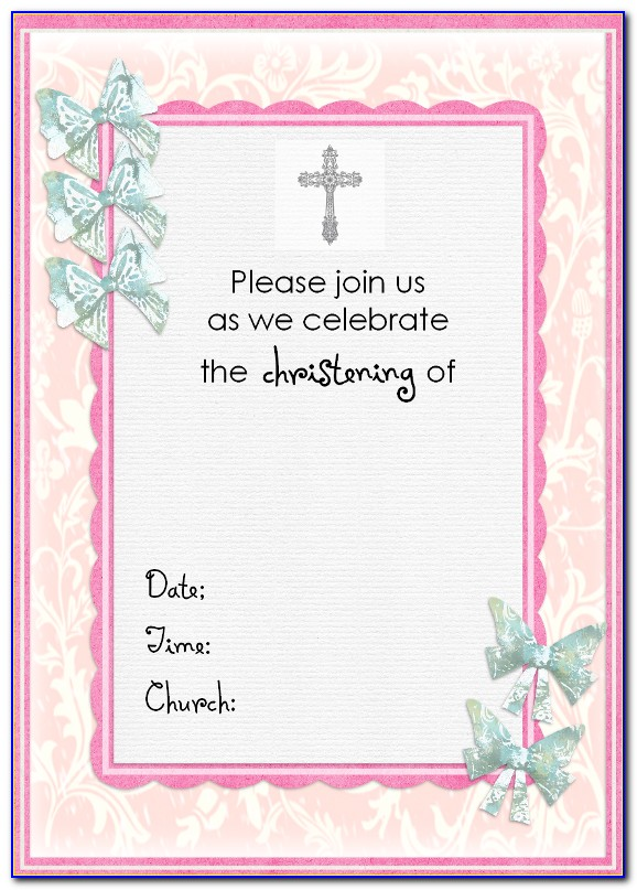 Baptism Invitation Template Psd Free Download