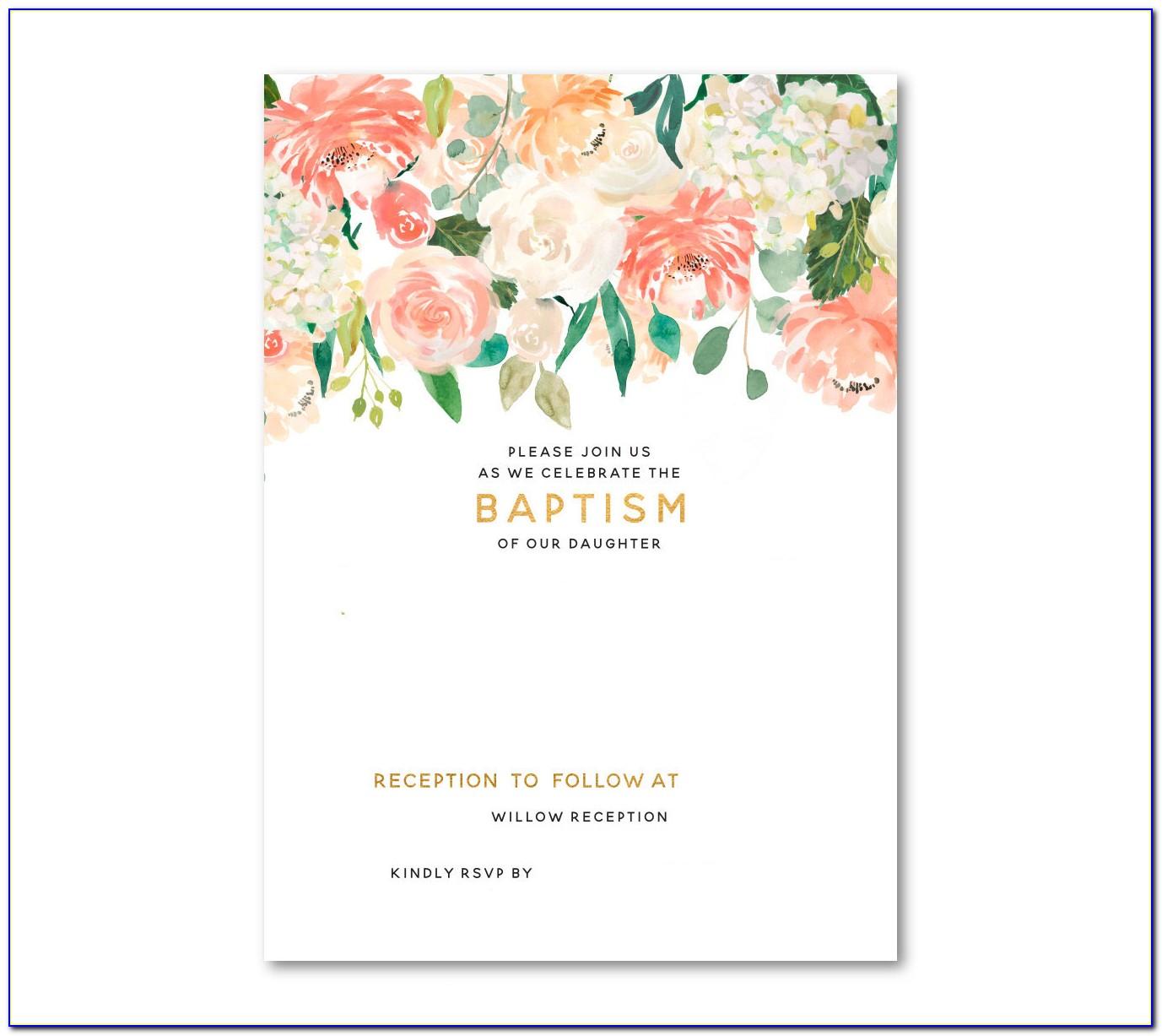 Baptism Invitation Templates Free