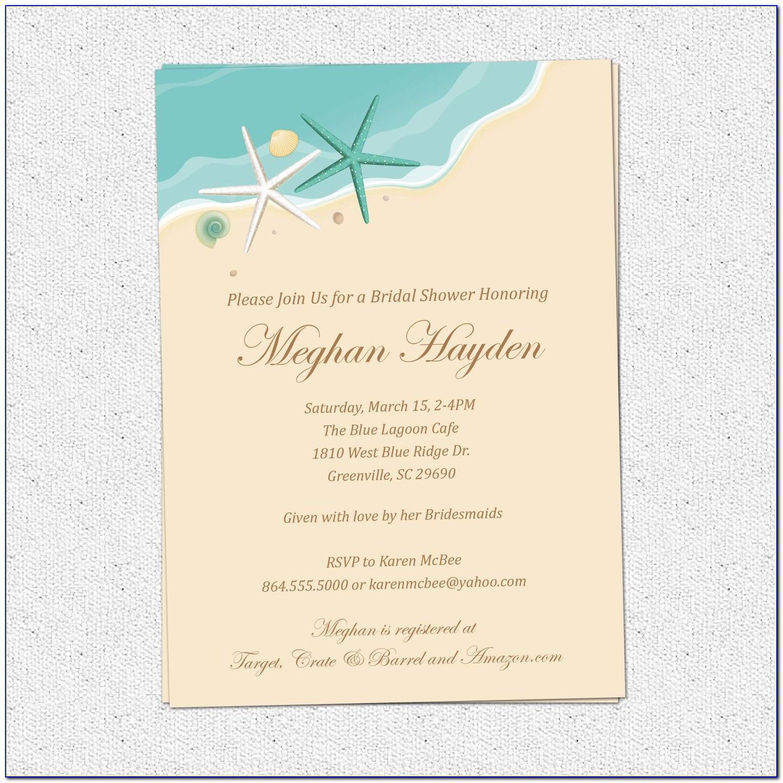 Beach Theme Wedding Invitation Templates Free