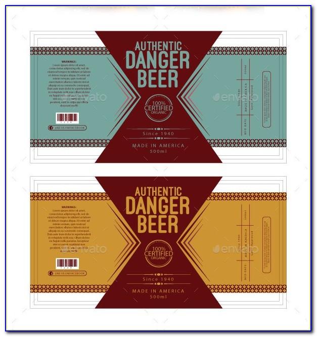 Beer Bottle Label Template Free Download