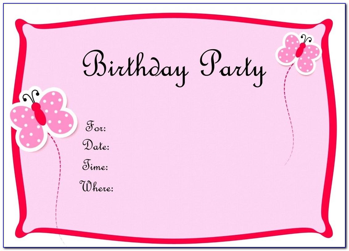 Birthday Party Invitation Templates Word