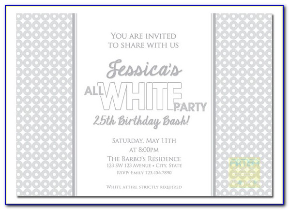 Black And White Party Invitation Templates Free Download
