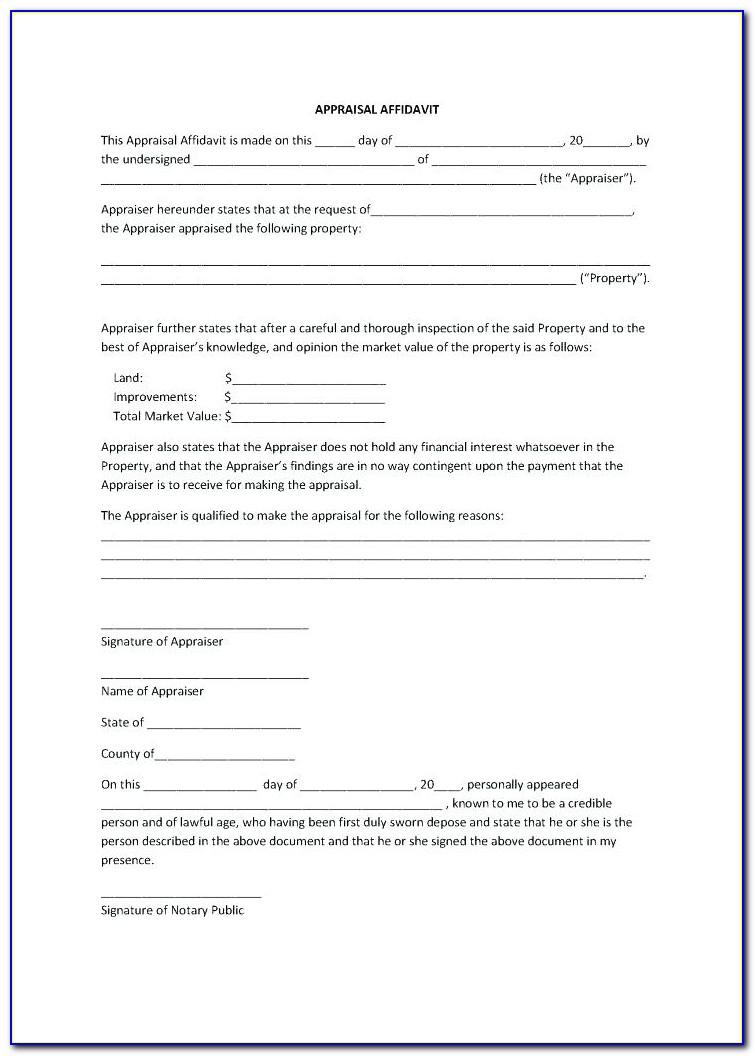 Blank Affidavit Template Qld