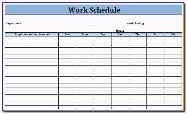 Blank Employee Schedule Template