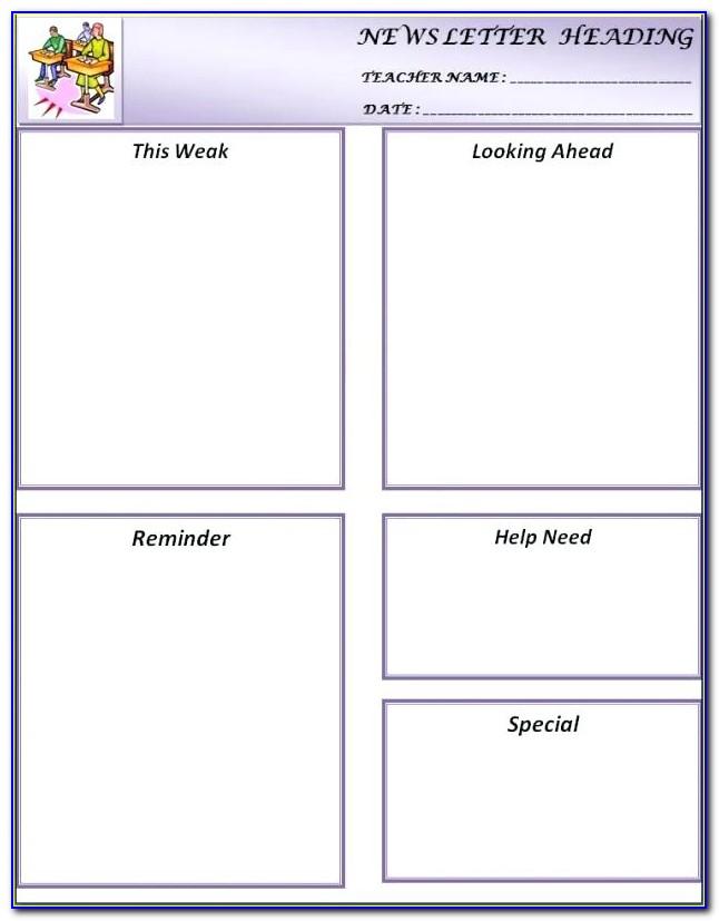 Blank Newsletter Templates Free