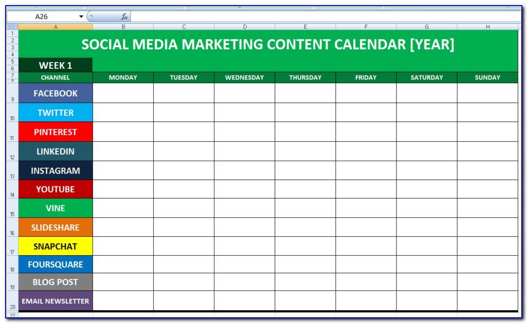 Blog Editorial Calendar Template Excel