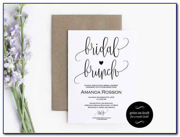Bridal Shower Brunch Invitation Wording
