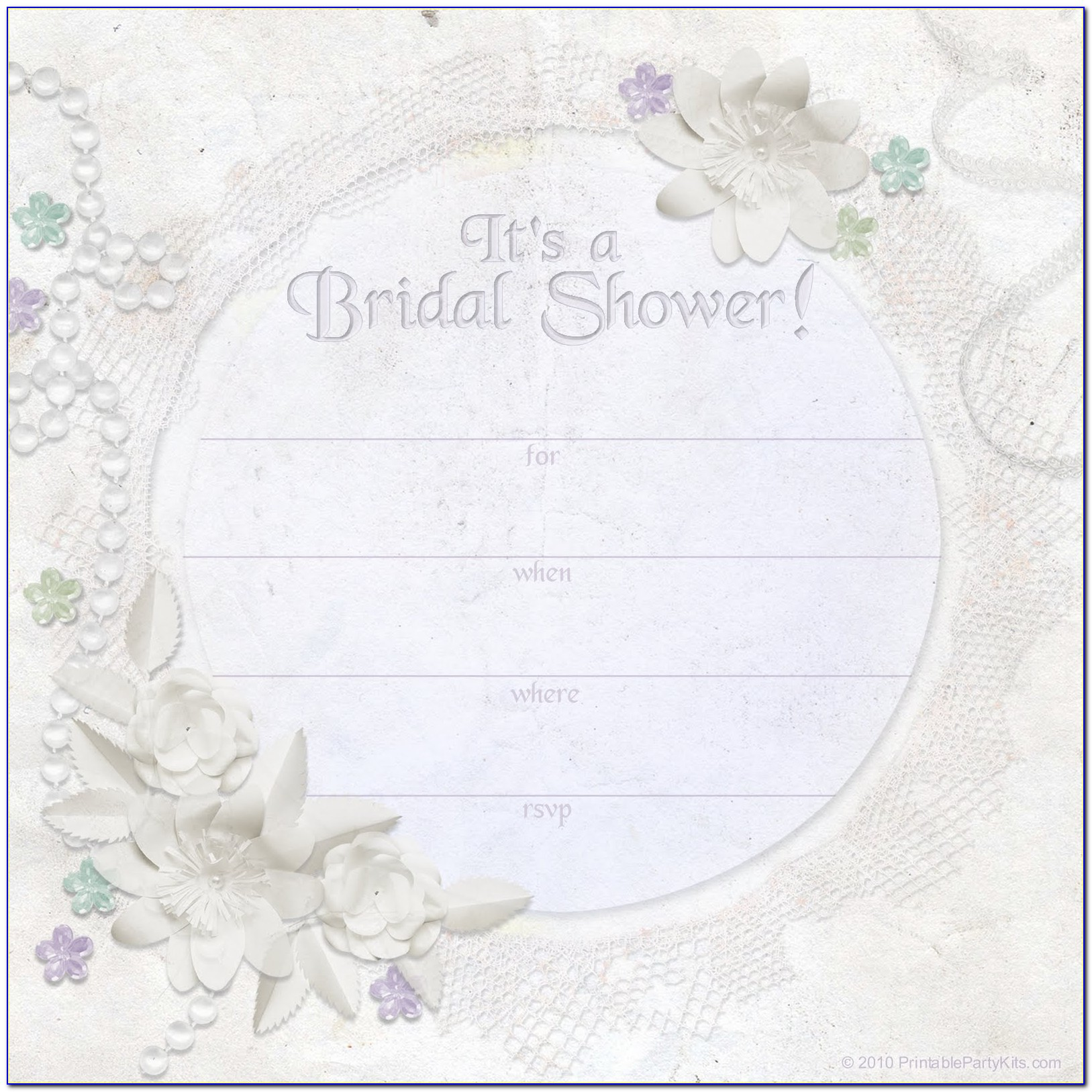 Bridal Shower Invitation Template Free Printable