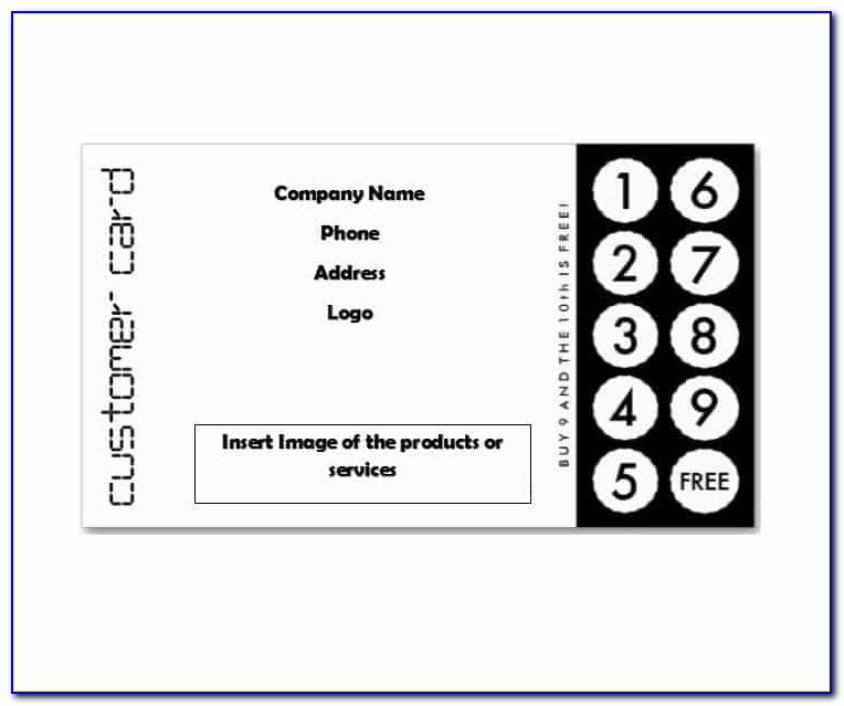 Business Punch Card Templates Free