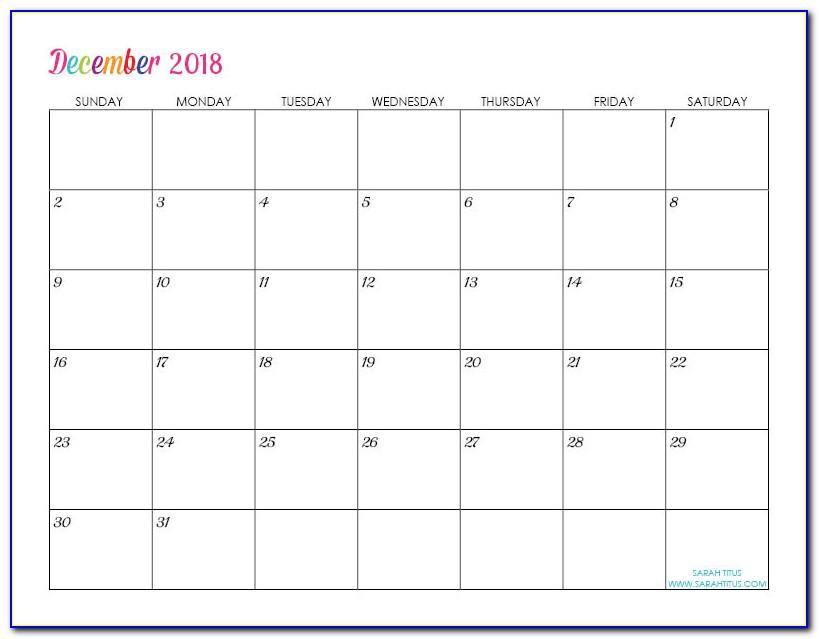 Calendar Maker Template Free