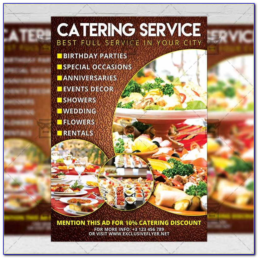 Catering Flyer Template Psd