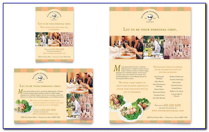 Catering Menu Template (flyer) Free