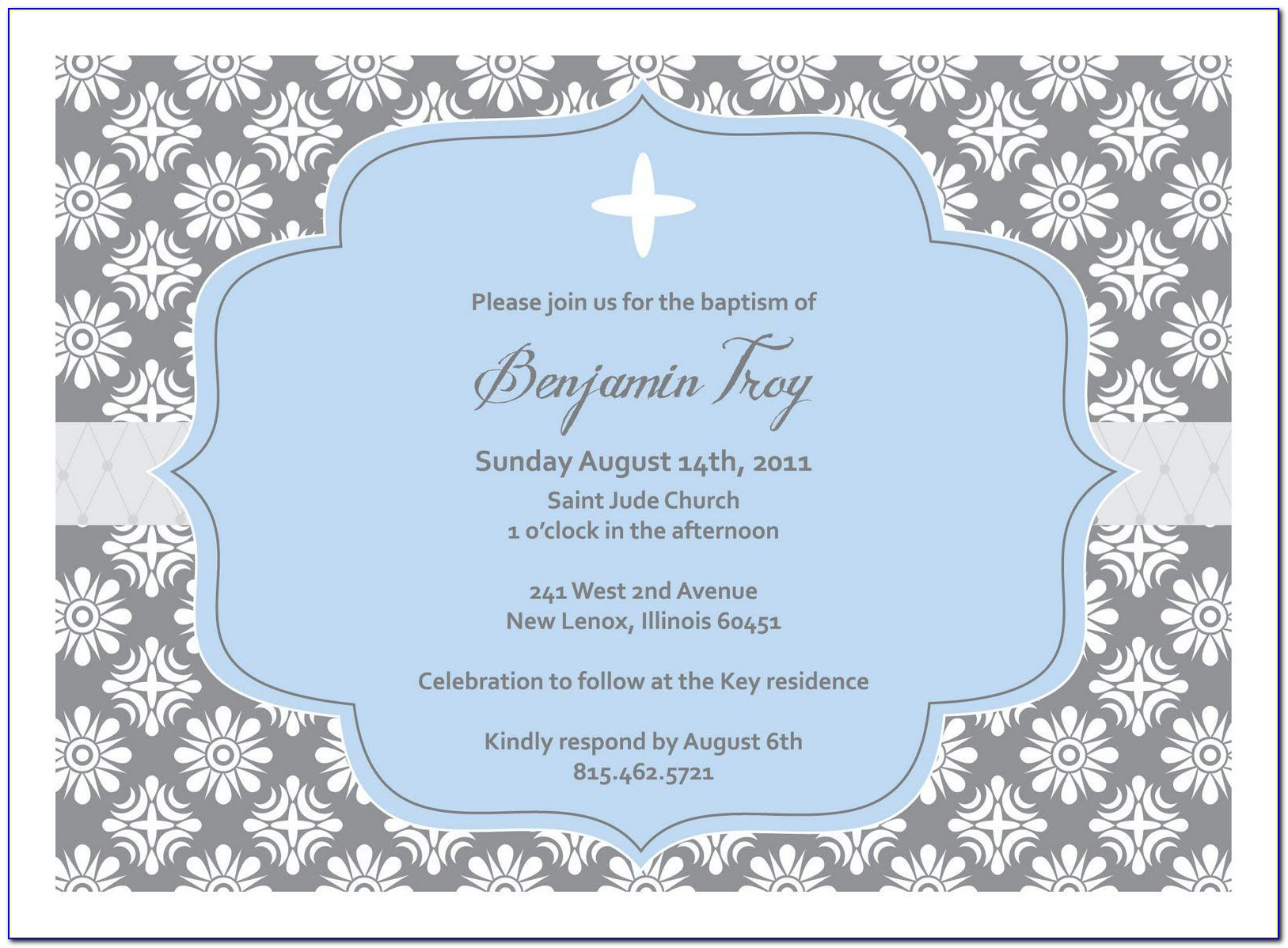 Christening Invitation Template Psd Free