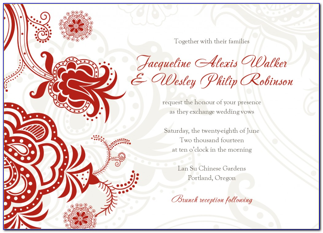 Christian Wedding Card Templates Free