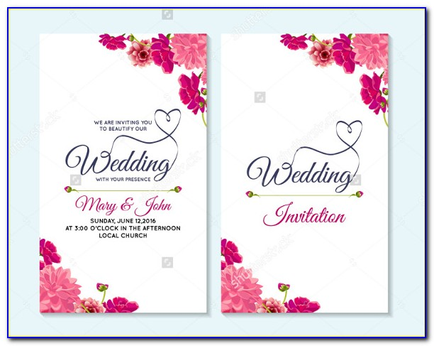 Christian Wedding Invitation Card Template
