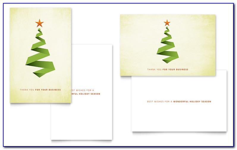 Christmas Gift Card Template Microsoft Word