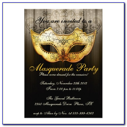 Christmas Masquerade Party Invitation Templates